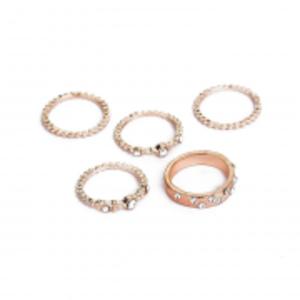 5 PC Ring Set For Women Gold - AR63