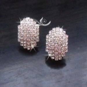 Gold Diamante Glowing Earring - AE43