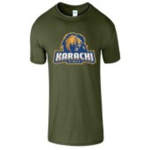 Green Cotton Karachi King Printed T-Shirt-00409
