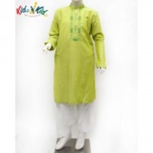 Green Embroidered Kurta Shalwar 2 Pc