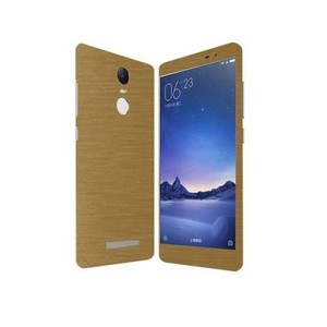 Xiaomi Redmi Note 3 Golden Brushed Metal texture Skin