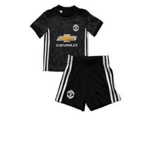 Black Polyester Manchester United Football Kit-XL-2Pcs