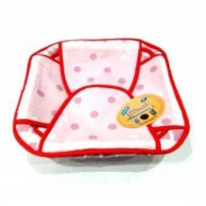 Printed Cotton Roti Basket with Cloth-Square-S2H:1009644471123330