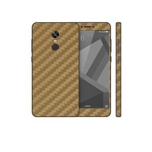 Xiaomi Redmi Note 4X Golden Carbon Fiber Texture Skin-DT7434