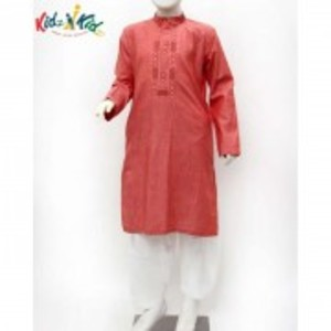 Peach Embroidered Kurta Shalwar 2 Pc