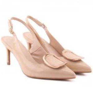 ELLA Patent Buckled Vamp DÂ'Orsay Stiletto Heel Sandals