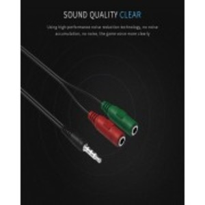 Y Splitter Cable - Audio Splitter for additional Microphone and Headphone Stereo Aux Cable Adapter