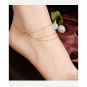 New Fashion Golden Multi Tassel Chain Anklet