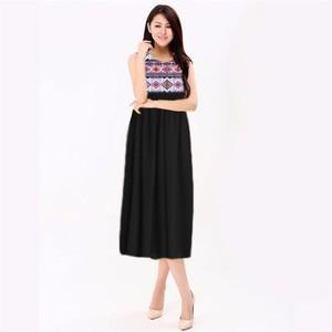 Black Summer Maxi Dress -sm-black