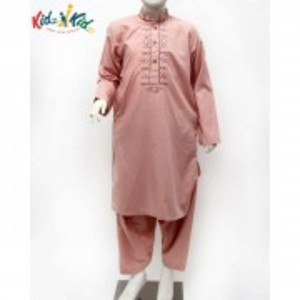 Peach Embroidered Washing Wear Kurta Shalwar 2 pc
