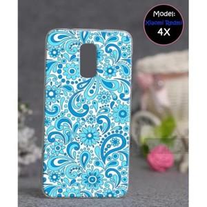 Xiaomi Redmi 4X Mobile Cover Floral Style-Blue