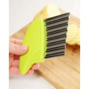 Crinkle Cutter Chopping Tool Slicer with Stainless Steel Blade for Veggies Potato Cucumber Carrots French Fries