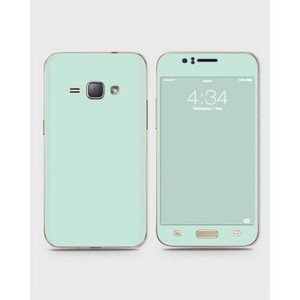Samsung Galaxy J1 2015 (J100) Skin Wrap in Light Turquoise-1wall19-75