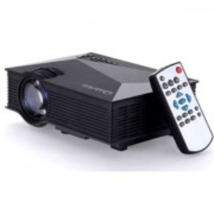 Mini WiFi Portable LED Projector with Miracast DLNA Airplay - Black