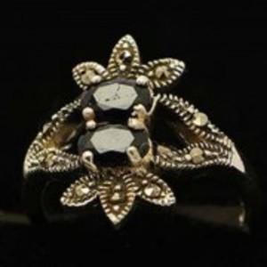 Sapphire Stone Silver Ring GB(5)4904