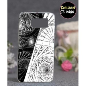 Samsung S6 Edge Mobile Cover Floral Style-Grey