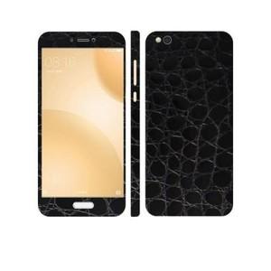 Xiaomi Mi 5c 3M Black Crocodile Leather Texture Skin-DT5339