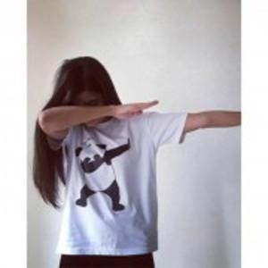 White Dub Panda Short Sleeve T-Shirt IF-WT9044
