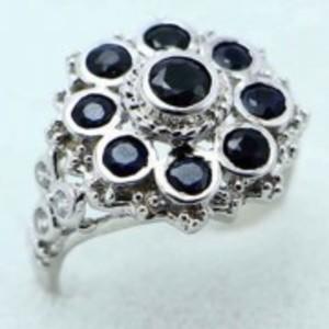 Sapphire Stone Ring -Multicolor-GB1892