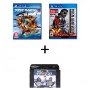 PS4 Just Cause 3 + PS4 metal gear solid + PS4 kontrol freeks