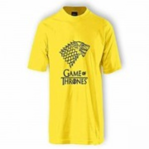 Yellow Game Of Thrones Printed T-Shirt