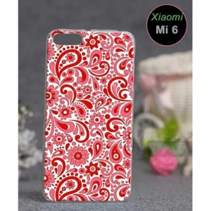 Xiaomi Mi 6 Mobile Cover Floral Style-Red