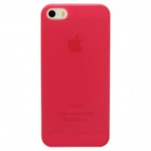 Ultra Thin Transparent Tpu Matte Case For Apple Iphone 5, 5S-Red