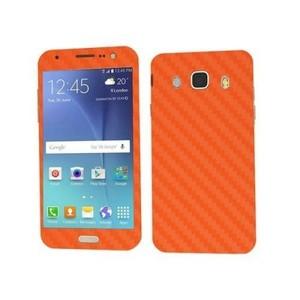 Samsung Galaxy J5 2016 Orange Carbon Fiber Texture Skin-DT2210