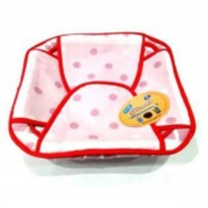 Printed Cotton Roti Basket with Cloth Square