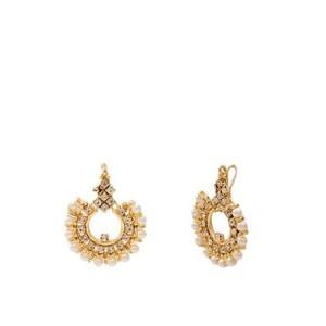 Golden  Gold  Plated  Earrings-J-026