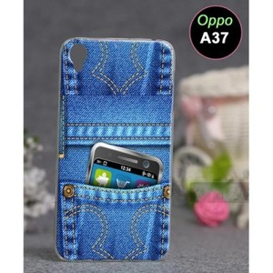 Oppo A37 Mobile Cover Jeans Style-Blue