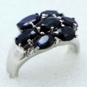 Sapphire Stone Ring -Multicolor-GB1890