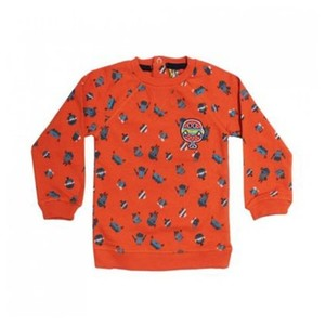 ORCHESTRA Cartoon Print Orange Sweat Shirt