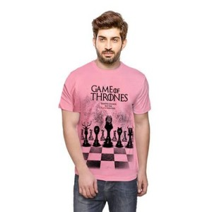 Pink Game Of Throne Cotton Printed Tshirt-Ace-5503