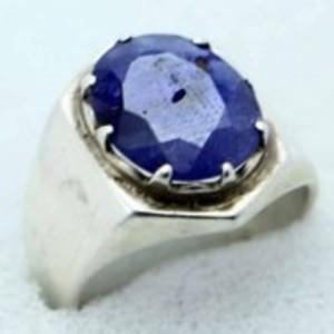 Sapphire Stone Ring-Deep Blue-GB1961