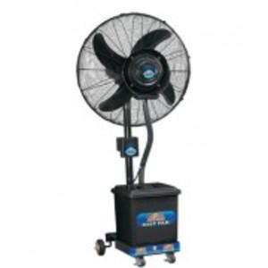 """Pedestal Mist Fan 24"""" Cool water Fan Triple Speed Heavy Duty Motor- Black"""