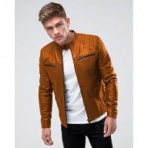 Original Leather Bikers Jacket for Mens & Boys - Brown