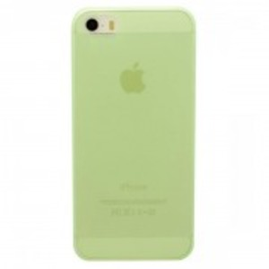 Ultra Thin Matte Tpu Back Case For Apple Iphone 5, 5S-Green