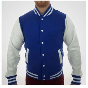 Royal Blue Baseball Fleece Versity Jacket