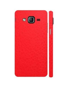 Decor Today Samsung On5 2015 Red Common Leather Texture Mobile Skin-Back & Sides