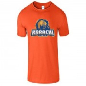 Orange Cotton Karachi King Printed T-Shirt-00417