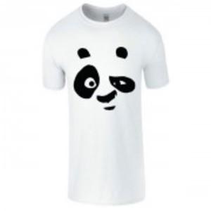White Stylish Panda Printed T-Shirt-03148