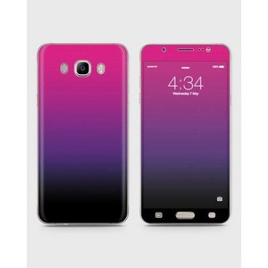 Samsung Galaxy J5 2015 (J510) Skin Wrap Mix Color Black&Purple-1wall14-63