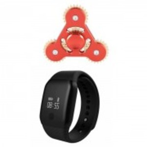 Pack Of 2:Android A-88 Smart Watch & Meatal Gear Fidget Spinner