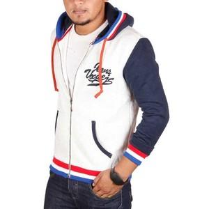 Jeans Vogue-Zipper Hoody-Off White-Dark Blue-MHD-UB-BL-55015-WT