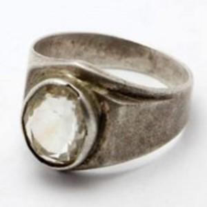 Golden Topaz Stone Silver Ring GB(5)4508