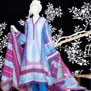 Unstitched 2Pcs Eid ul Fiter Collection 2018-JLAWN-S-JDS-18-1048/A Kashmir Valley
