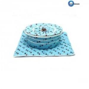 Complete Roti Basket Light Blue Colour