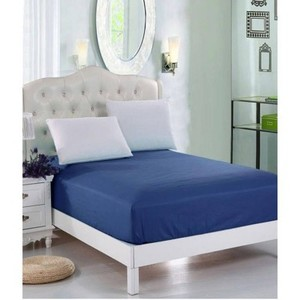 Dark Blue Jersey & Cotton Single Size Bed Sheet SB-Cotton13