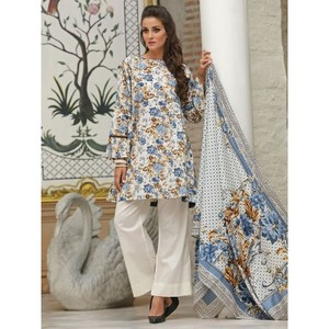 multicolour 3pc Suit Unstitched Universal Designer Lawn-UD Lawn-241